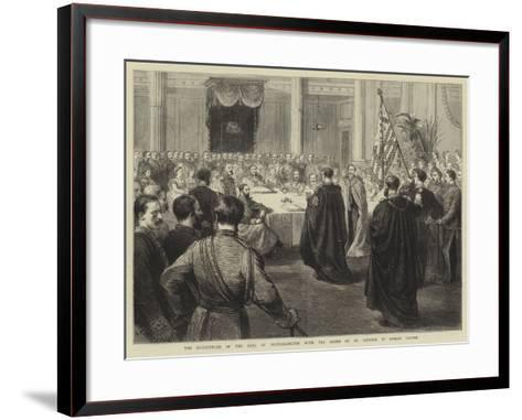 The Investiture of the Earl of Portarlington with the Order of St Patrick in Dublin Castle-Godefroy Durand-Framed Art Print