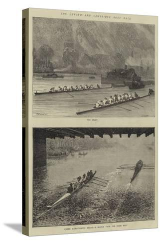 The Oxford and Cambridge Boat Race-Godefroy Durand-Stretched Canvas Print