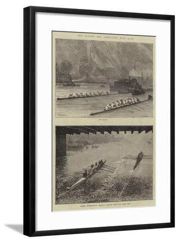 The Oxford and Cambridge Boat Race-Godefroy Durand-Framed Art Print
