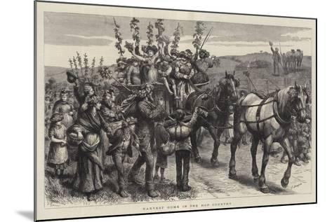 Harvest Home in the Hop Country-Godefroy Durand-Mounted Giclee Print