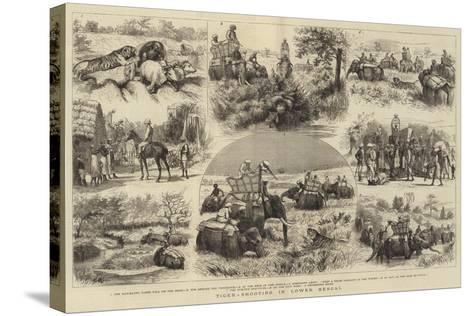 Tiger-Shooting in Lower Bengal-Godefroy Durand-Stretched Canvas Print
