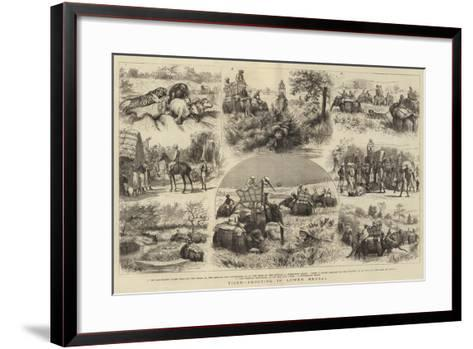 Tiger-Shooting in Lower Bengal-Godefroy Durand-Framed Art Print
