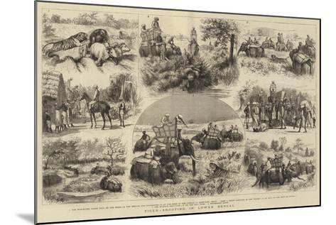 Tiger-Shooting in Lower Bengal-Godefroy Durand-Mounted Giclee Print