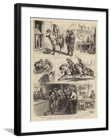 Sketches in the United States, Sunday at a Frontier Town-Godefroy Durand-Framed Art Print