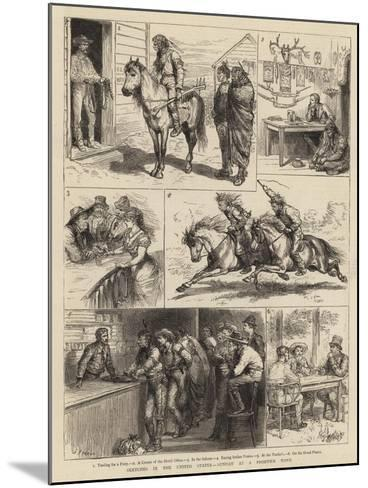 Sketches in the United States, Sunday at a Frontier Town-Godefroy Durand-Mounted Giclee Print