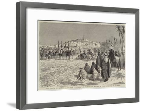 The French in Algeria, an Arab Fantasia at Gardaia in Honour of the Governor of Algiers-Godefroy Durand-Framed Art Print