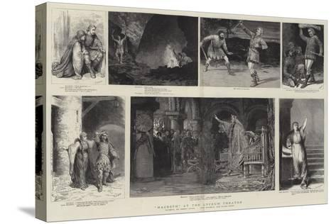 Macbeth at the Lyceum Theatre-Godefroy Durand-Stretched Canvas Print