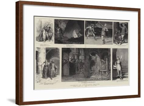 Macbeth at the Lyceum Theatre-Godefroy Durand-Framed Art Print