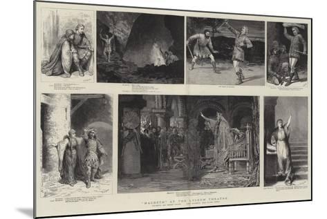 Macbeth at the Lyceum Theatre-Godefroy Durand-Mounted Giclee Print