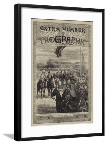 The Review in Windsor Park-Godefroy Durand-Framed Art Print