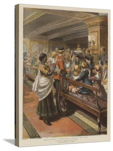 Children's Christmas Dinner at Sea-Godefroy Durand-Stretched Canvas Print