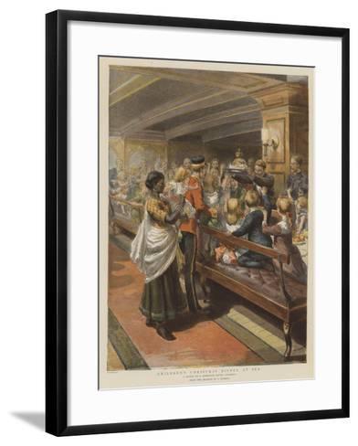 Children's Christmas Dinner at Sea-Godefroy Durand-Framed Art Print