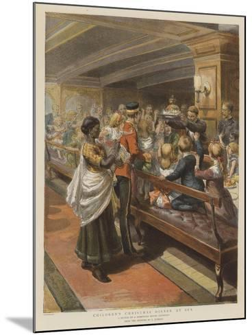 Children's Christmas Dinner at Sea-Godefroy Durand-Mounted Giclee Print