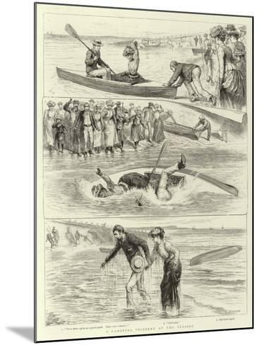 A Canoeing Incident at the Seaside-Godefroy Durand-Mounted Giclee Print