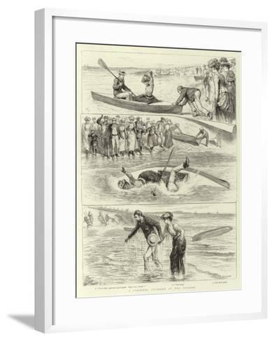 A Canoeing Incident at the Seaside-Godefroy Durand-Framed Art Print