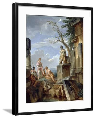 Ruins with a Sibyl and Other Figures, C.1720-Giovanni Paolo Pannini-Framed Art Print