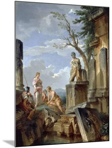 Ruins with a Sibyl and Other Figures, C.1720-Giovanni Paolo Pannini-Mounted Giclee Print
