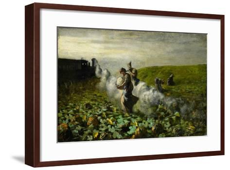 The Pumpkin Harvest, 1897-Giovanni Segantini-Framed Art Print