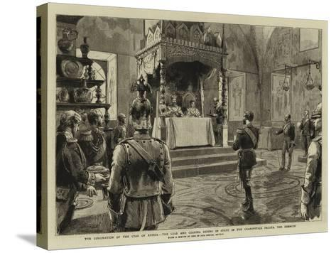 The Coronation of the Czar of Russia-Godefroy Durand-Stretched Canvas Print