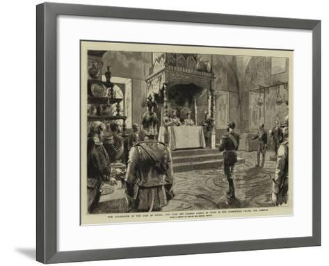 The Coronation of the Czar of Russia-Godefroy Durand-Framed Art Print