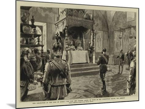 The Coronation of the Czar of Russia-Godefroy Durand-Mounted Giclee Print