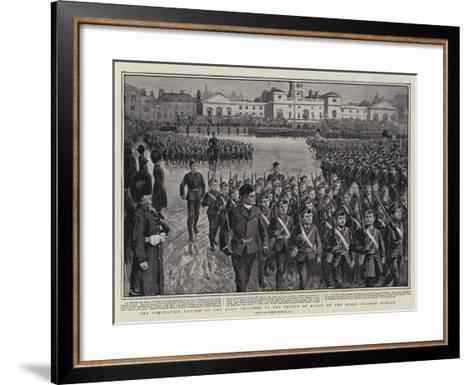 The Coronation Review of the Boys' Brigades by the Prince of Wales on the Horse Guards' Parade-Gordon Frederick Browne-Framed Art Print