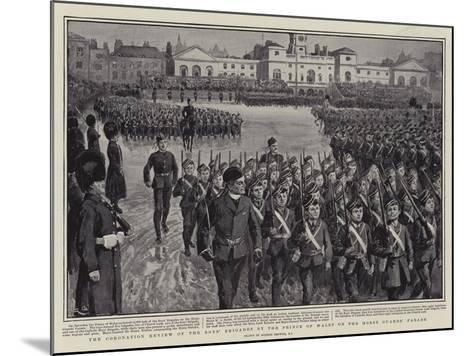 The Coronation Review of the Boys' Brigades by the Prince of Wales on the Horse Guards' Parade-Gordon Frederick Browne-Mounted Giclee Print