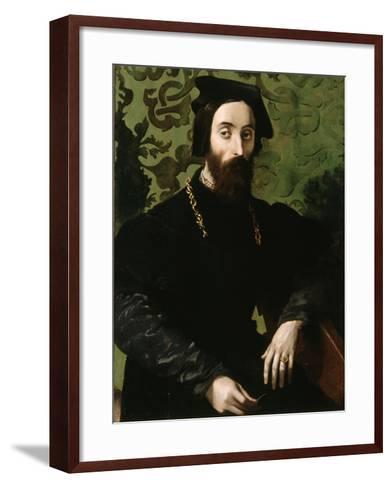 Portrait of a Musician, C.1540-Girolamo Mazzola Bedoli-Framed Art Print