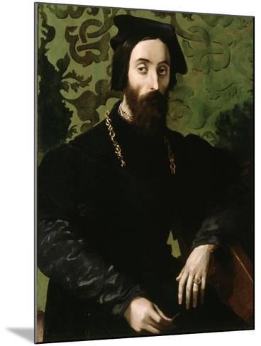Portrait of a Musician, C.1540-Girolamo Mazzola Bedoli-Mounted Giclee Print