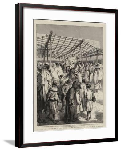 Cursing the Christians, a Ride Through the Bazaars of Fez on the Way to Tangier-Godefroy Durand-Framed Art Print