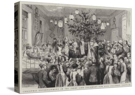 Christmas Entertainment in the Jenny Lind Infirmary for Sick Children, Norwich-Godefroy Durand-Stretched Canvas Print
