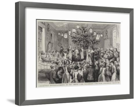Christmas Entertainment in the Jenny Lind Infirmary for Sick Children, Norwich-Godefroy Durand-Framed Art Print