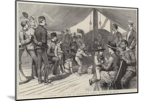 Children's Life on a Troopship, Rope Quoits on Deck-Godefroy Durand-Mounted Giclee Print