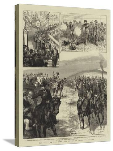 The Visit of the King and Queen of Italy to Vienna-Godefroy Durand-Stretched Canvas Print