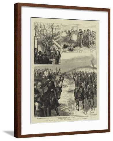 The Visit of the King and Queen of Italy to Vienna-Godefroy Durand-Framed Art Print