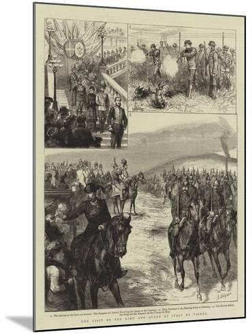 The Visit of the King and Queen of Italy to Vienna-Godefroy Durand-Mounted Giclee Print