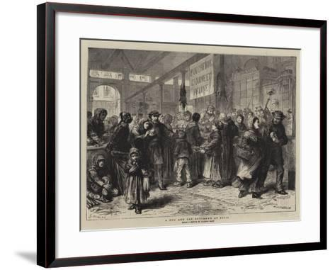 A Dog and Cat Butcher's at Paris-Godefroy Durand-Framed Art Print