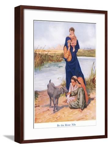 By the River Nile-Gordon Frederick Browne-Framed Art Print
