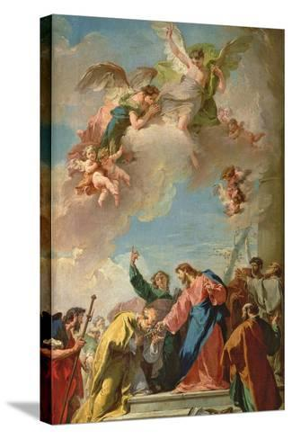 The Delivery of the Keys to St. Peter-Giovanni Battista Pittoni-Stretched Canvas Print