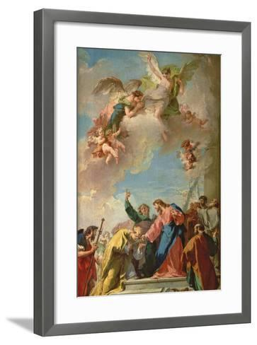 The Delivery of the Keys to St. Peter-Giovanni Battista Pittoni-Framed Art Print