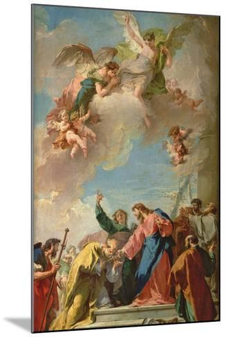 The Delivery of the Keys to St. Peter-Giovanni Battista Pittoni-Mounted Giclee Print