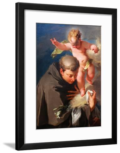 The Vision of Saint Anthony of Padua C.1730-Giovanni Battista Pittoni-Framed Art Print