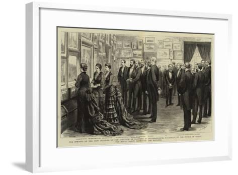 The Opening of the New Building of the Institute of Painters in Water-Colours-Godefroy Durand-Framed Art Print