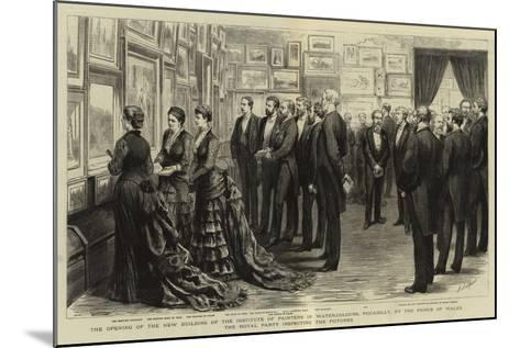 The Opening of the New Building of the Institute of Painters in Water-Colours-Godefroy Durand-Mounted Giclee Print