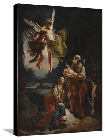The Rest on the Flight into Egypt, C.1720-Giovanni Battista Tiepolo-Stretched Canvas Print