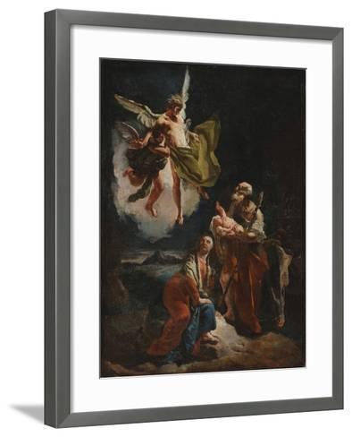 The Rest on the Flight into Egypt, C.1720-Giovanni Battista Tiepolo-Framed Art Print