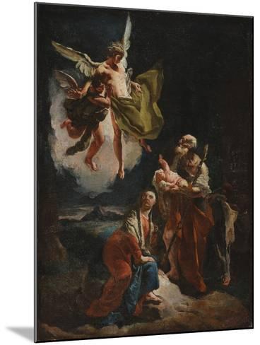 The Rest on the Flight into Egypt, C.1720-Giovanni Battista Tiepolo-Mounted Giclee Print