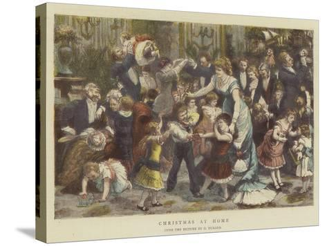 Christmas at Home-Godefroy Durand-Stretched Canvas Print