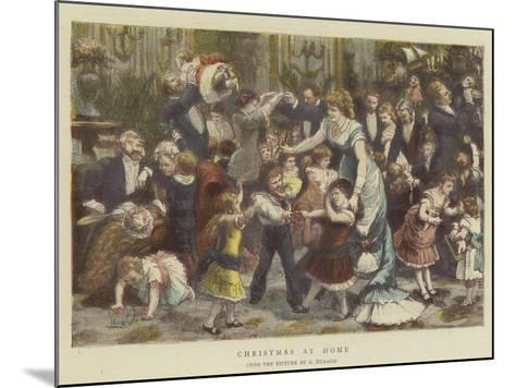 Christmas at Home-Godefroy Durand-Mounted Giclee Print