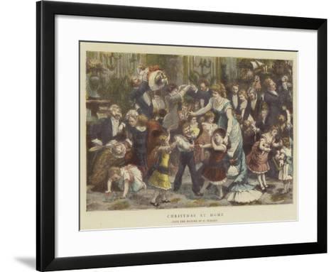 Christmas at Home-Godefroy Durand-Framed Art Print
